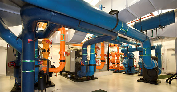 One of the chiller rooms discussed in our case studies