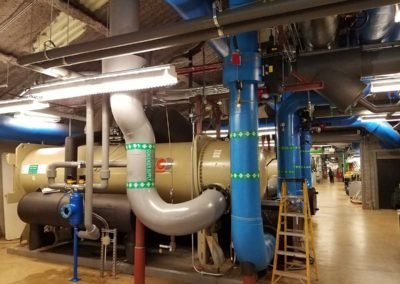 Helios TCS Collector and Ball Trap (gray insulated at upper right) on 1400 ton chiller