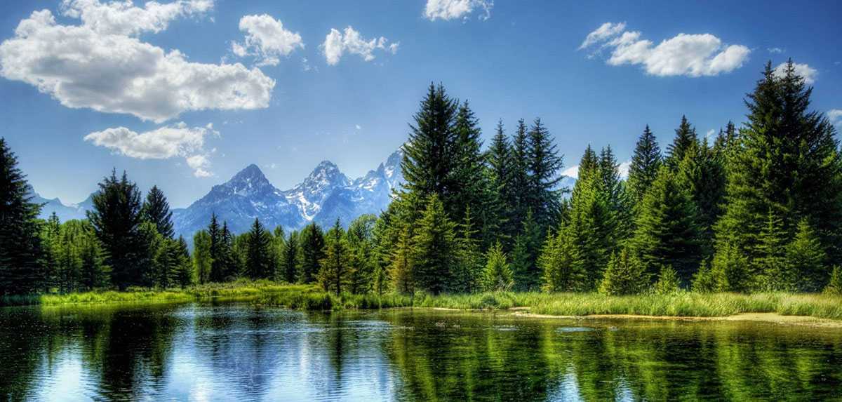 Clean air and water in the mountains