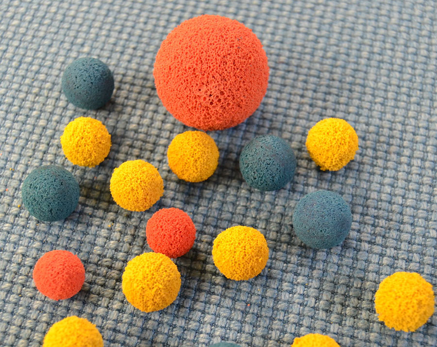 Automatic tube cleaning system balls